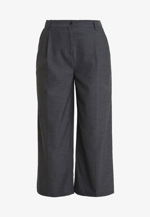 PLEAT DETAILED TROUSERS - Spodnie materiałowe - anthracite