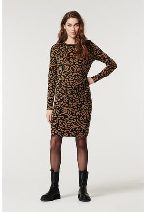 LEOPARD - Shift dress - brown