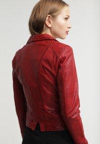 Oakwood - CAMERA - Veste en cuir - red - 5