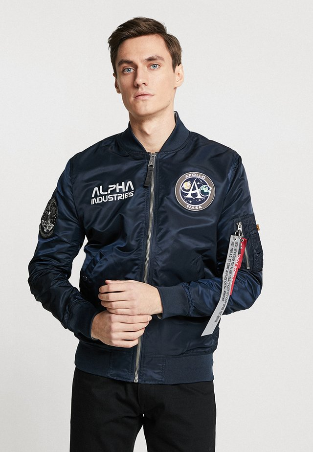 MOON LANDING - Bomber Jacket - blue