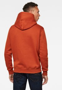 G-Star - VARSITY FELT HOODED LONG SLEEVE - Hoodie - cinnamon orange - 1