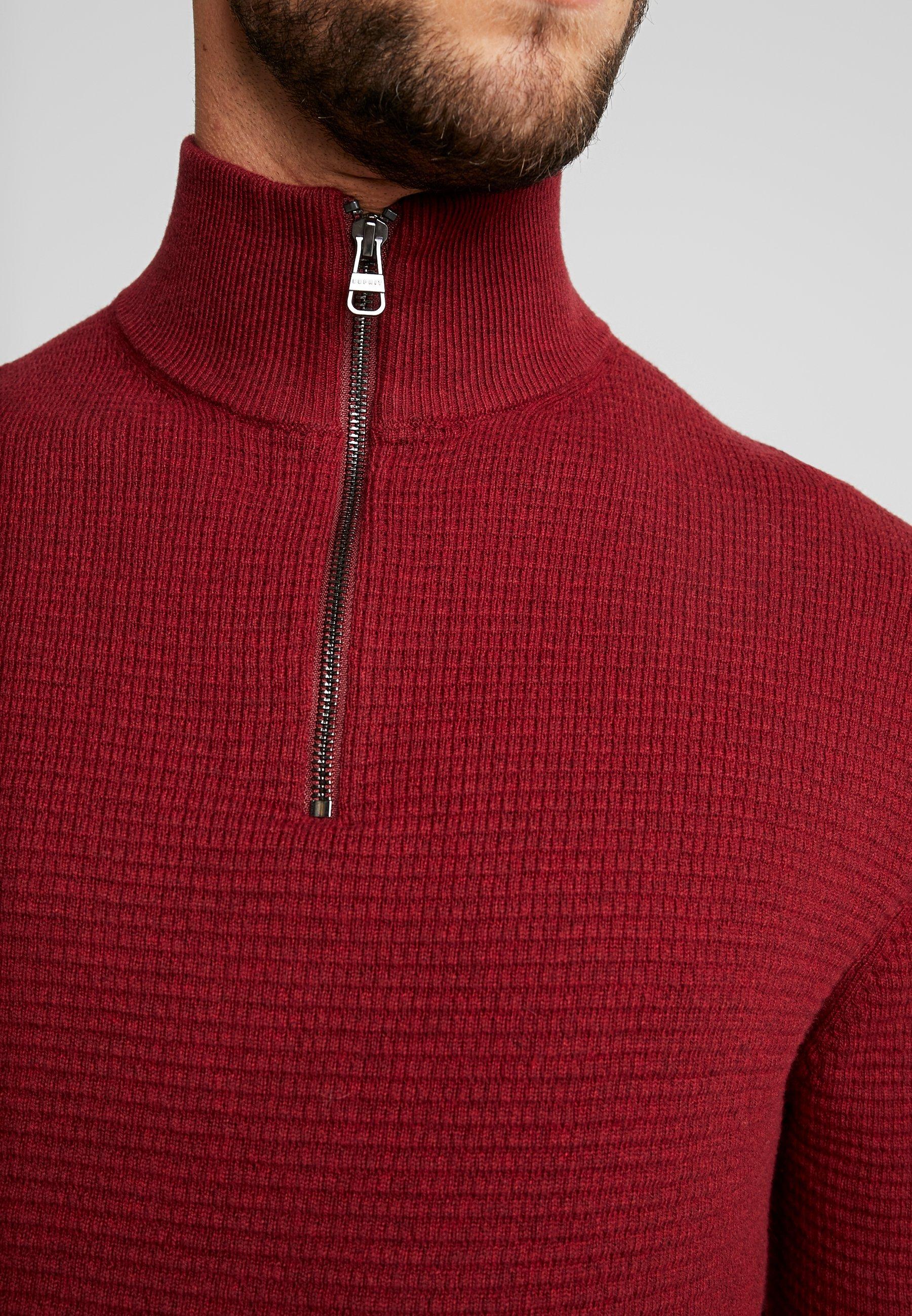 Esprit COWS - Trui - dark red  Heren Truien & vesten Jmp5n