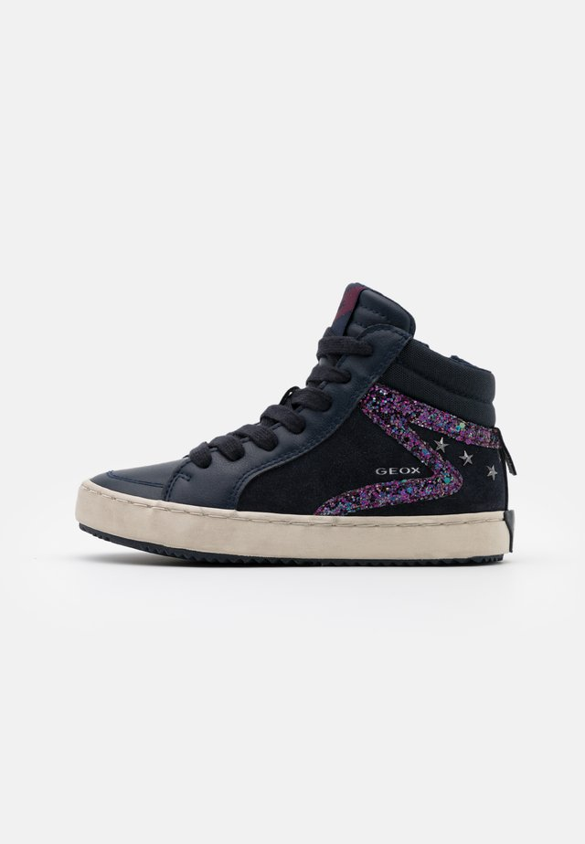 KALISPERA GIRL - High-top trainers - navy/prune