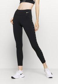 Nike Performance - ONE TAPING - Leggings - black/white - 0