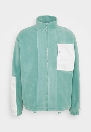 POLAR PANEL ZIP THROUGH - Fleecejacke - dark mint