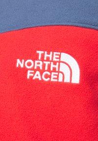 The North Face - BLOCKED HOODIE - Fleecejacka - teal/dark red - 4