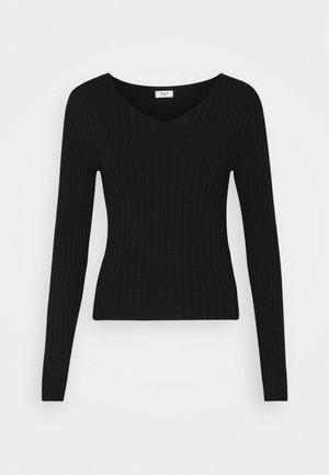 JDYLANU V NECK - Jumper - black