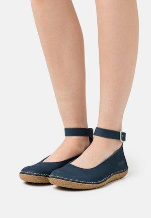 HONNORA - Ankle strap ballet pumps - marine