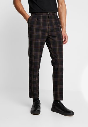 SEASONAL FIT CHIC PARTY IN DYED CHECK PATTERN - Tygbyxor - black