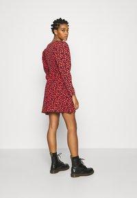 Topshop - V NECK SKATER DRESS - Day dress - red - 2