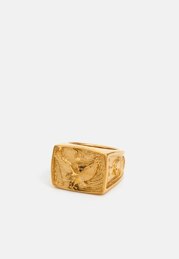 AMERICAN EAGLE SQUARE SIGNET - Sormus - gold-coloured