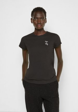 HAVE A NICE DAY TEE WHITE LABEL - Basic T-shirt - black