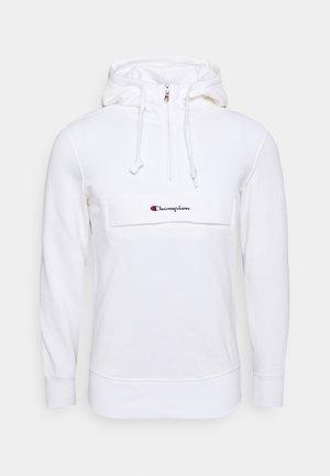 HALF ZIP HOODED - Jersey con capucha - white