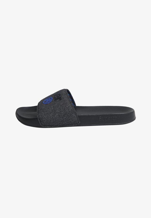 LINEMAN - Japonki kąpielowe - black/black grit/cobalt