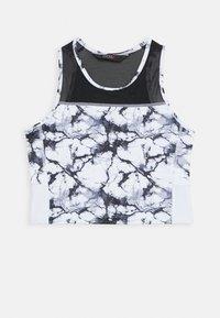 CROPPED TANK MARBLE - Sports shirt - white