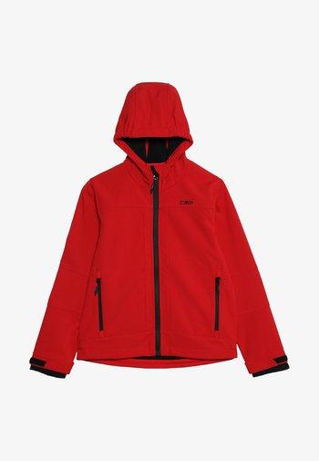 FIX HOOD UNISEX - Soft shell jacket - red/nero