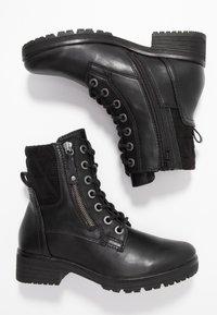 Jana - Šněrovací kotníkové boty - black - 3