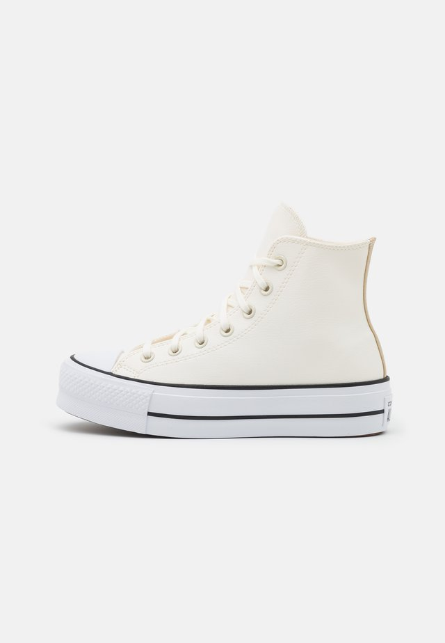CHUCK TAYLOR ALL STAR PLATFORM - Korkeavartiset tennarit - egret/white/black