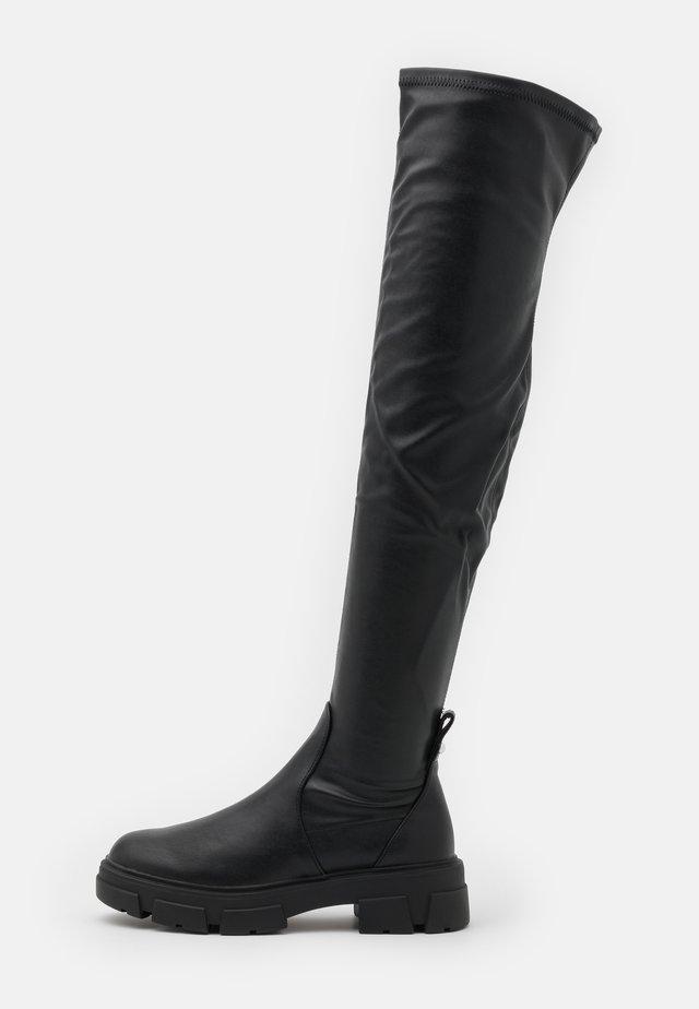 DWERADIA - Overknee laarzen - black