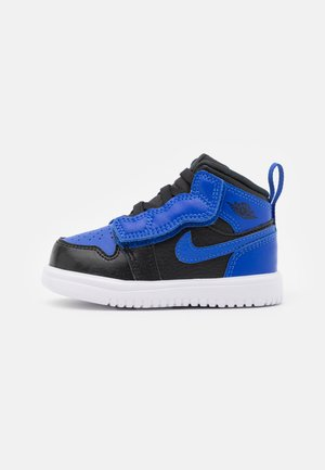 1 MID UNISEX - Basketbalové boty - black/hyper royal/white
