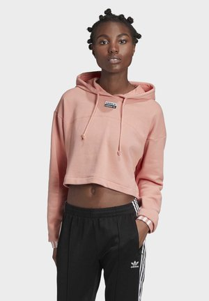 R.Y.V. CROPPED HOODIE - Jersey con capucha - pink