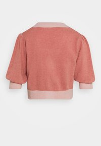 NA-KD - BUTTON CROPPED CARDIGAN - Strickjacke - pink - 1