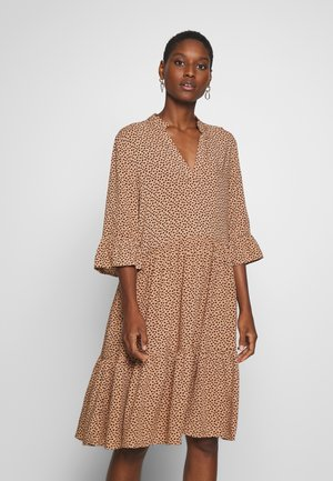 EDA DRESS - Korte jurk - tan/pebbles