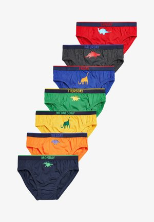 7 PACK DINO DAYS OF THE WEEK BRIEFS - Briefs - red
