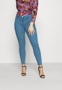 Cotton On - MID RISE - Jeans Skinny Fit - revolve blue - 0