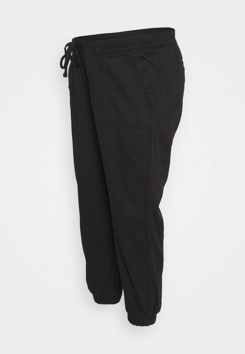 GAP Maternity - UTILITY - Tracksuit bottoms - true black