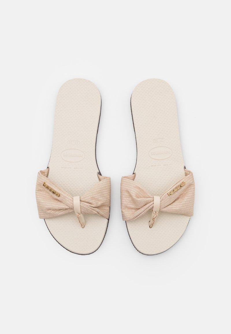Havaianas - YOU TROPEZ SHINE - T-bar sandals - beige