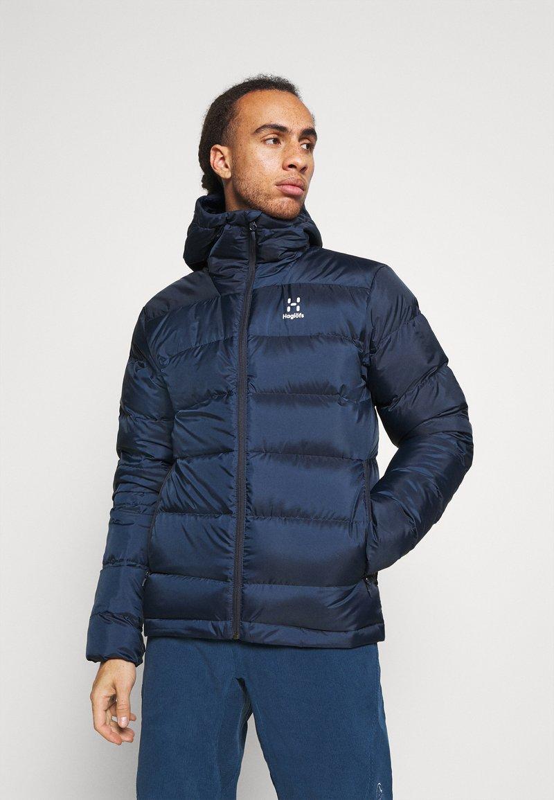 Haglöfs - BIELD HOOD MEN - Down jacket - tarn blue