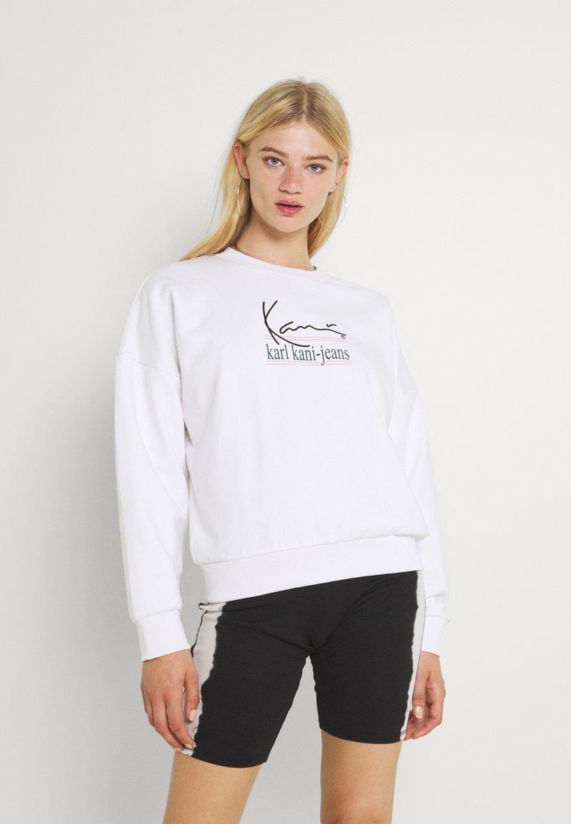 Karl Kani - SIGNATURE CREW - Sweatshirt - white