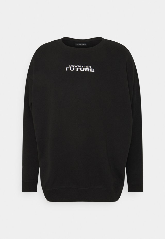 CREWNECK LABEL UNISEX - Sweatshirt - black