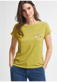 comma - Print T-shirt - green - 0