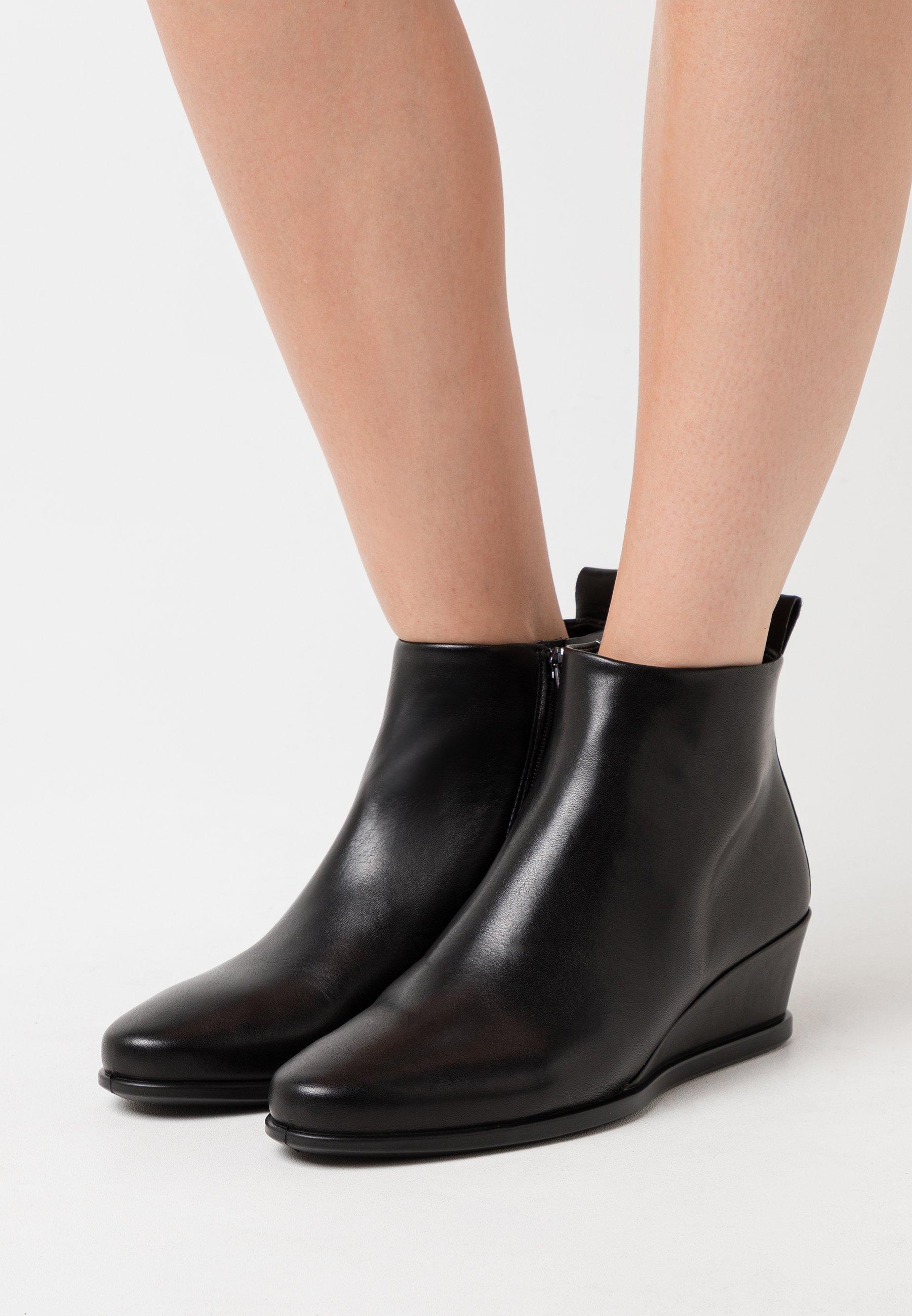 Women SHAPE WEDGE - Ankle boots - black