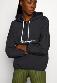 Champion - HALF ZIP - Windbreaker - black - 5
