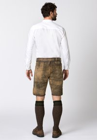 Stockerpoint - WIGGAL - Leather trousers - beige - 2