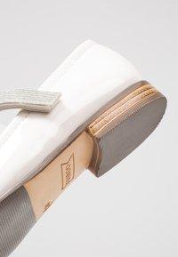 Friboo - Ankle strap ballet pumps - white - 2
