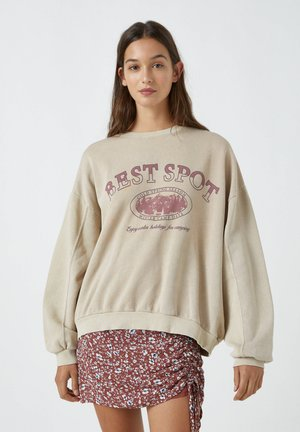 BEST SPOT - Sweatshirt - mottled beige