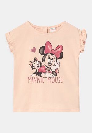 MINNIE - Print T-shirt - cream pink
