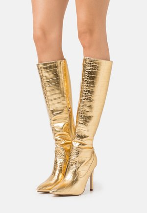 ZYDA - High heeled boots - gold