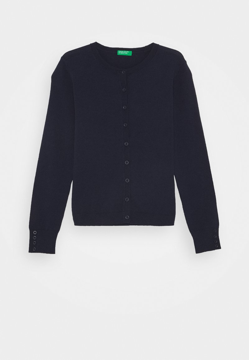 Benetton - BASIC GIRL  - Strikjakke /Cardigans - dark blue