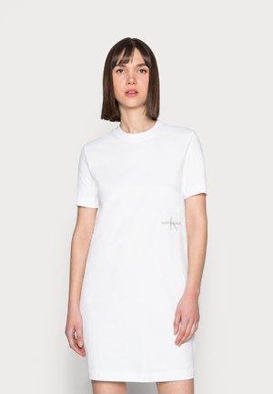 OFFPLACED MONOGRAM DRESS - Jersey dress - white
