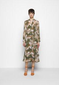 HUGO - ELEKTRA - Shirt dress - olive - 0