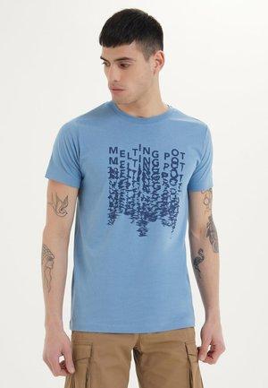 MELTING - T-shirt print - blue heaven