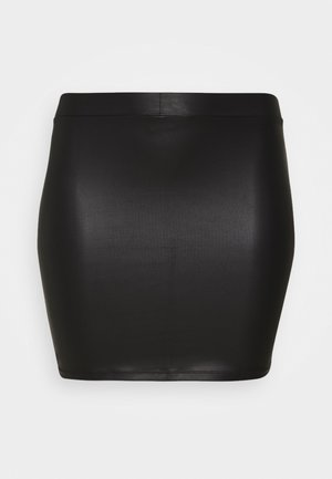 PCNEW SHINY SKIRT - Jupe crayon - black