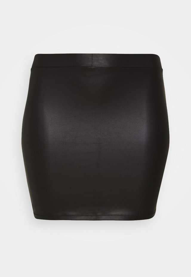 PCNEW SHINY SKIRT - Pencil skirt - black