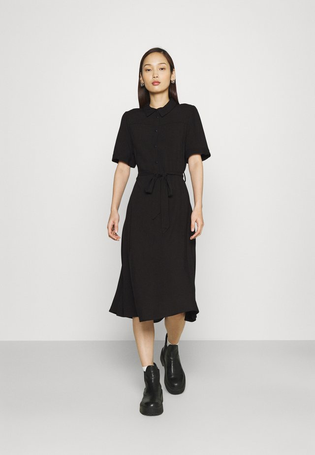 VIALA MIDI DRESS - Shirt dress - black