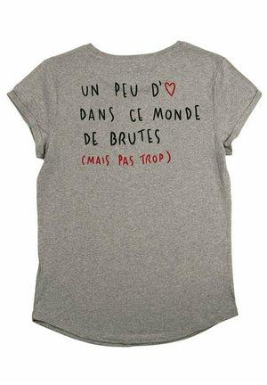 BRUTE BACK RU - T-shirt imprimé - mottled grey